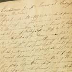 Side fra regnskabsbog, 1827. Fundet i Dybbøl Præstearkiv, Rigsarkivet, Aabenraa.    Foto udlånt af www.genealogi-syd.dk
