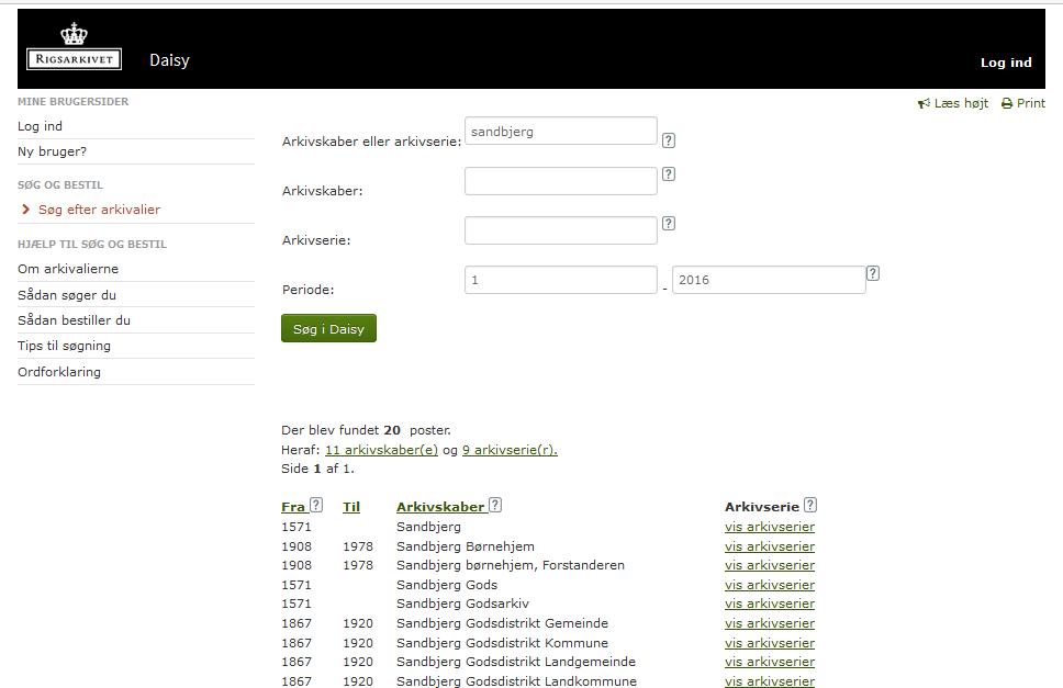 DAISY på www.sa.dk har fået et nyt udseende i september 2016.